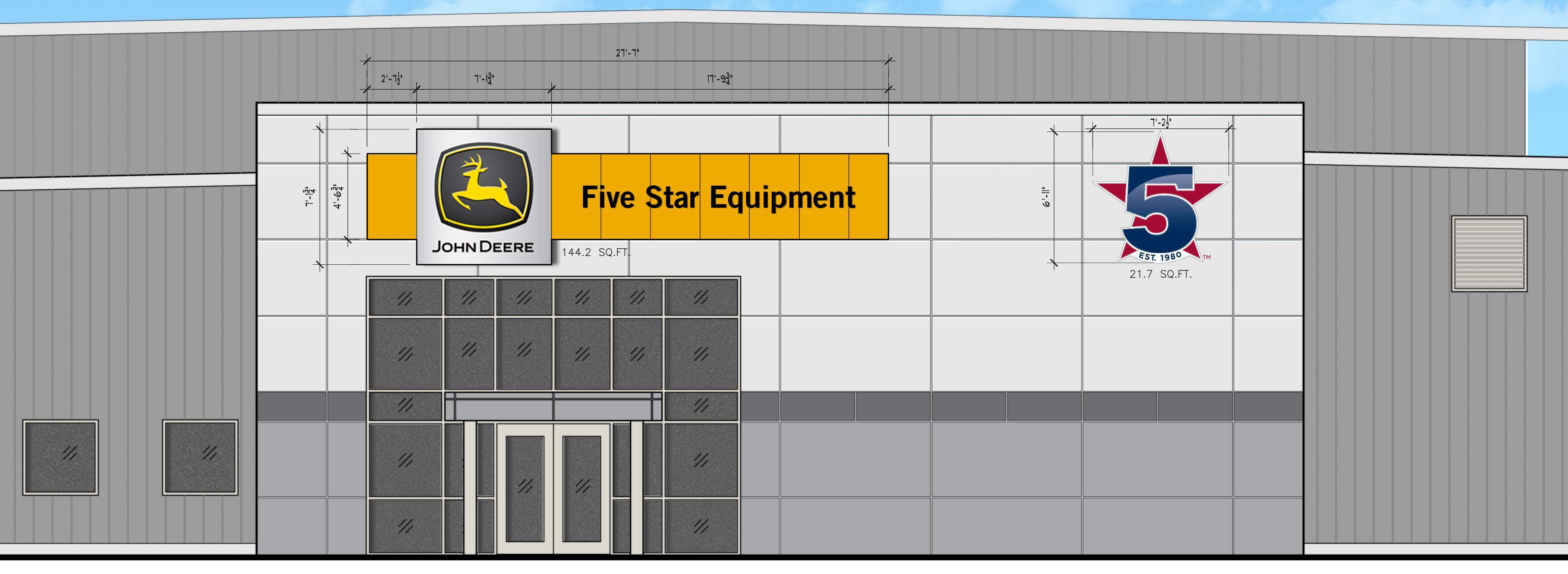 5 Star Building Front Logo Signage Elevation