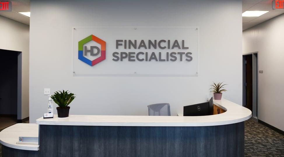 HD Financial - Custom Lobby Pin Letter Sign