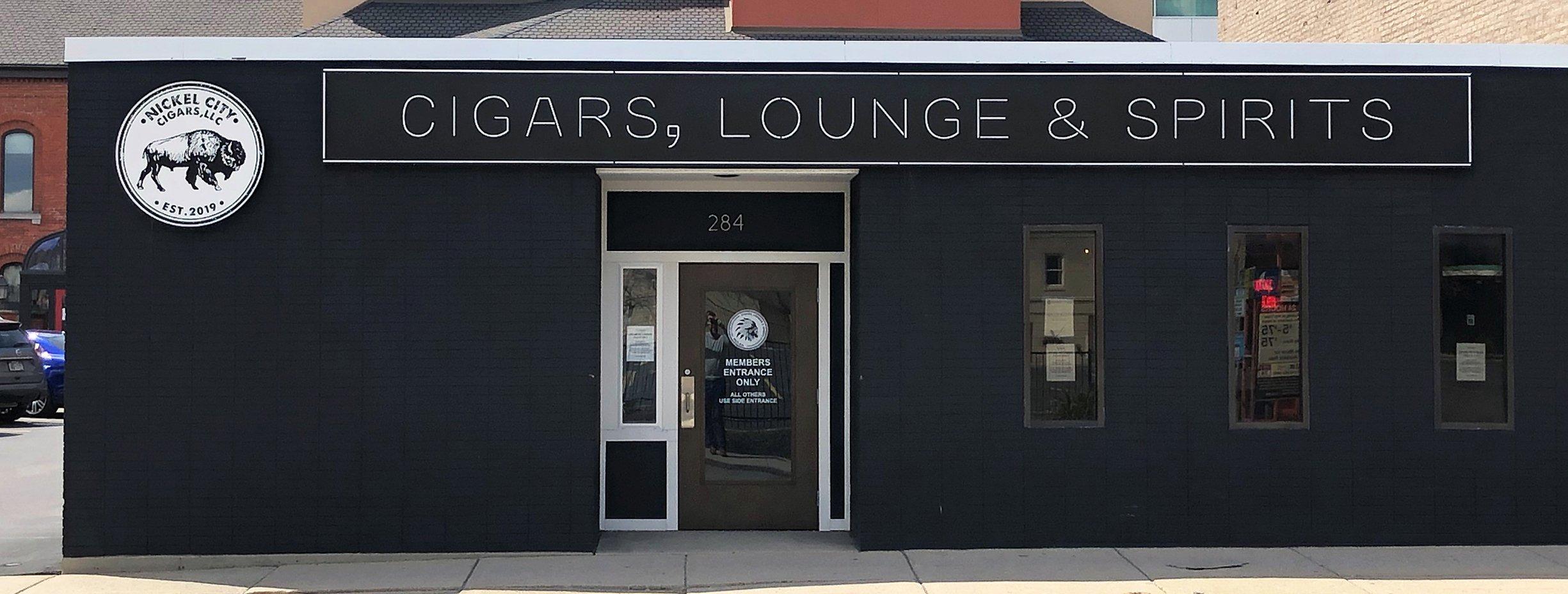 Nickel City Cigars - Building Facade Signage