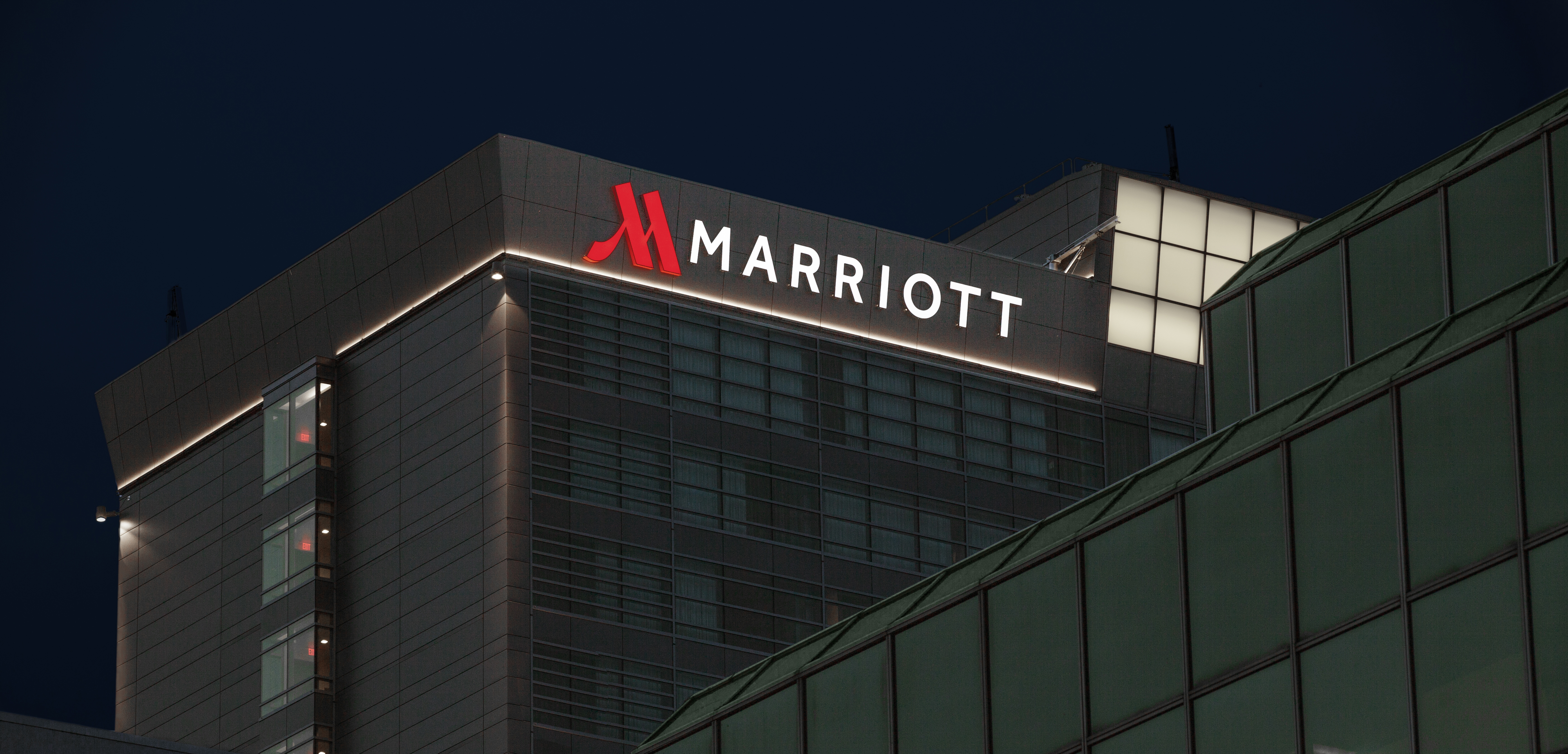 Marriott - LECOM Center Channel Letter Sign edit
