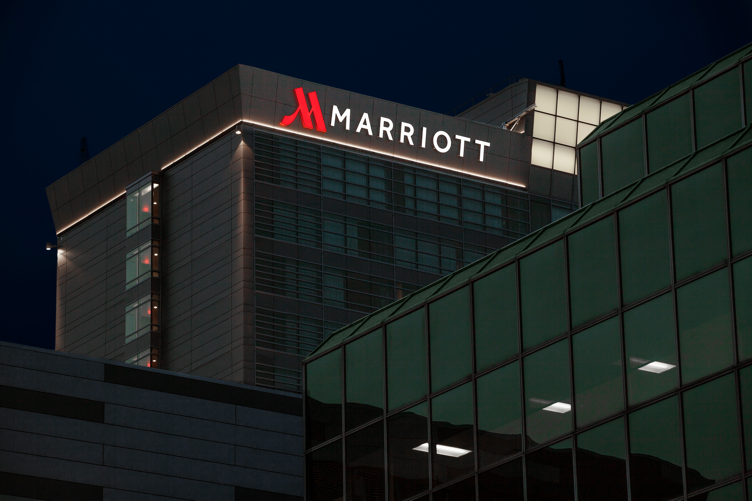 Marriott LECOM Center Brand Logo Sign